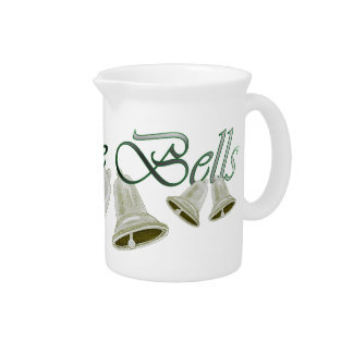 Christmas Pewter Bells Drink Pitcher