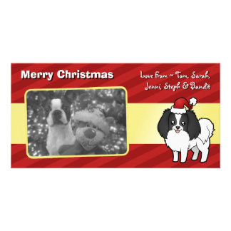 Christmas Phalene / Japanese Chin Card