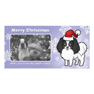 Christmas Phalene / Japanese Chin Photo Card