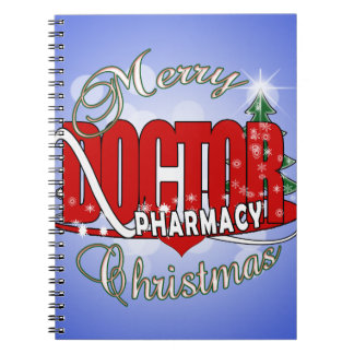 CHRISTMAS PHARMACY DOCTOR NOTEBOOK