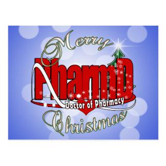 CHRISTMAS PharmD Doctor of Pharmacy Postcard