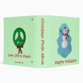 Christmas Photo Album -Snowman Vinyl Binders
