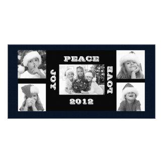 Christmas Photo Card 5 photos Joy Peace Love