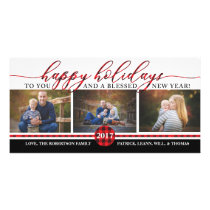 Christmas Photo Card, Buffalo Plaid Card