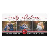 Christmas Photo Card, Buffalo Plaid Card