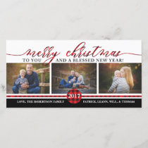 Christmas Photo Card, Buffalo Plaid Holiday Card