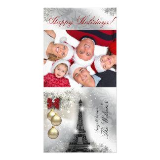 Christmas Photo Card Eiffel Tower Paris