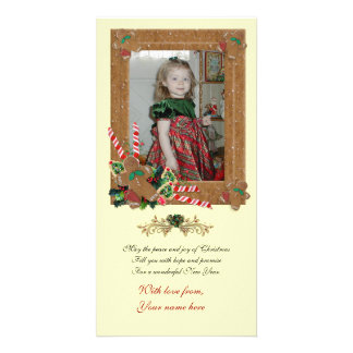 Christmas photo card Gingerbread cookies