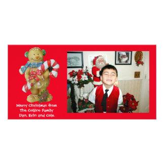 Christmas Photo card gingerbread man