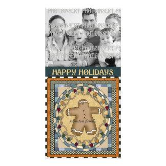 Christmas Photo Card - Gingerbread Man