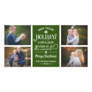 Christmas Photo Card, Holiday, Joy, EDITABLE COLOR Card