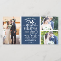Christmas Photo Card, Married, EDITABLE COLOR Holiday Card