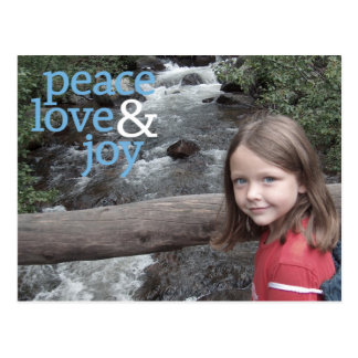 Christmas Photo Card - Peace Love and Joy