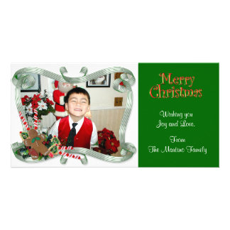 Christmas Photo Card ribbons