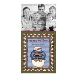 Christmas Photo Card - Snowman