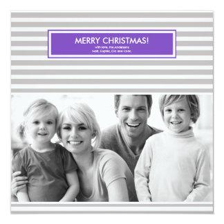 Christmas Photo Card - Stripes - Customizable