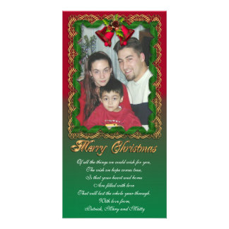 Christmas photo card traditional frame