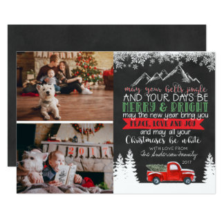 Christmas Photo Card - Vintage Red Truck