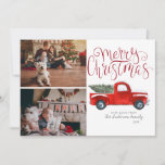 """Christmas Photo Card - Vintage Red Truck<br><div class=""""desc"""">Make this Christmas merry and bright with our Red Truck in Snow photo card. There is nothing like getting a personalized photo card in the mail. This tradition may seem a little old-fashioned to some, but many people still enjoy it. You can find kiosks at many big box stores that...</div>"""
