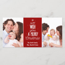 Christmas photo card - wish you a Merry Christmas