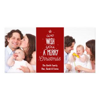Christmas photo card - wish you a Merry Christmas