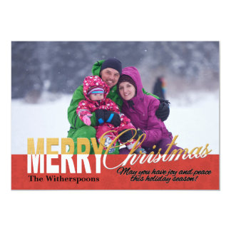 Christmas Photo Card With Inspirational Quote