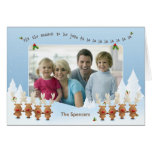 Christmas Photo Card with Singing Reindeer Greeting Card