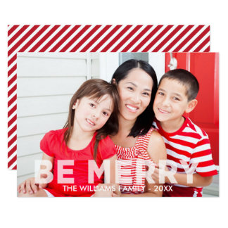 Christmas Photo Cards | Be Merry Modern Design