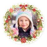 Christmas Photo Cards | Festive Wreath Invitations