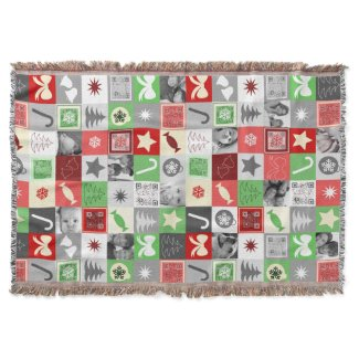 Christmas photo collage blanket with funny videos throw