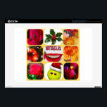"""Christmas photo collage decals for 15&quot; laptops<br><div class=""""desc"""">Sort of colorful pictures celebrating Christmas and Thanksgiving with humor</div>"""