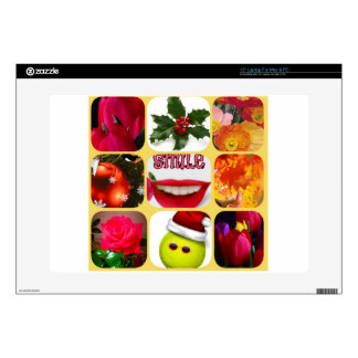 """Christmas photo collage decals for 15"""" laptops"""