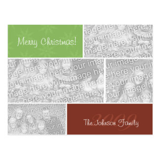 Christmas Photo Collage Post Cards