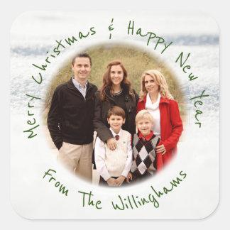 Christmas Photo Envelope Seal Custom Greeting