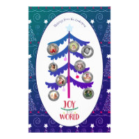 Christmas PHOTO Family Tree Letter Year in Review Stationery