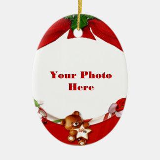 Christmas Photo Frame Ceramic Ornament