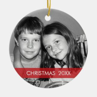 Christmas Photo Frame - Modern Ornaments