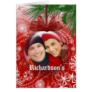 Christmas Photo Globe Ornament Greeting Card