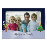 Christmas Photo Greeting Card with Rudolph (5x7)