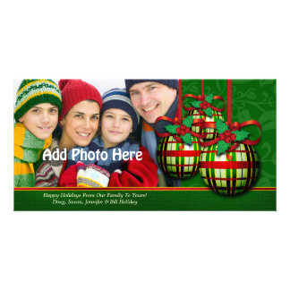 Christmas Photo Greeting Cards | Custom Template Picture Card