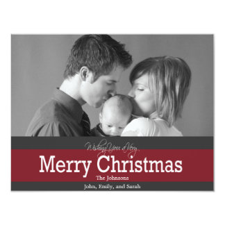 Christmas Photo Greeting 4.25x5.5 Paper Invitation Card
