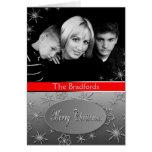 Christmas Photo Greeting - Snowflakes Greeting Cards