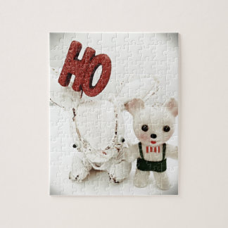 Christmas Photo Holiday Greeting Card Jigsaw Puzzle