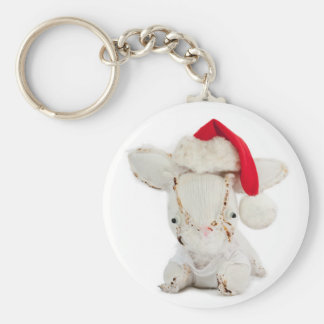 Christmas Photo Holiday Greeting Card Keychain