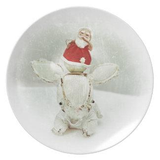 Christmas Photo Holiday Greeting Card Plate