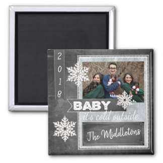 Christmas Photo in a Vintage Design Magnet