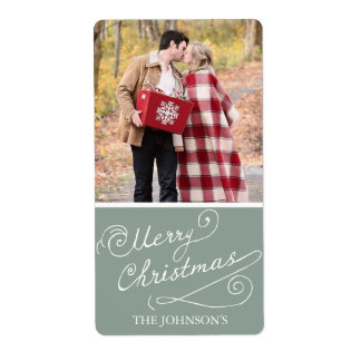Christmas Photo Labels   Holidays
