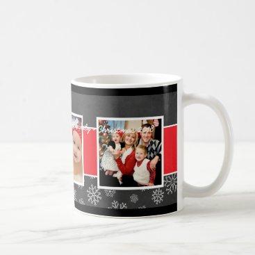 Christmas Themed Christmas Photo Mug | Black Chalkboard Design