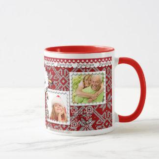 Christmas photo mug with funny video greetings