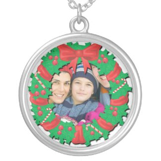 Christmas Photo Pendant Necklace necklace